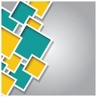 abstracte 3d vierkante achtergrond met kleurrijke tegels vector