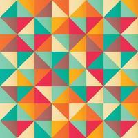 geometrisch naadloos patroon met kleurrijke driehoeken in retro design