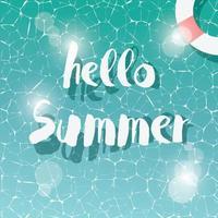 zwembad, bovenaanzicht, zomervakantie vector