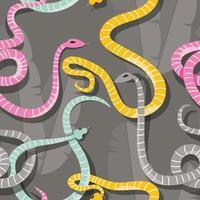 naadloze patroon met kleurrijke slangen