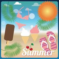 zomervakantie banner vector