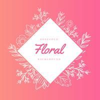 Rosegold bloemen vector achtergrond