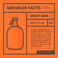 Growler-feiten en geïsoleerde label vector