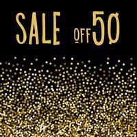 kerst seizoensgebonden verkoop. de helft van de prijs. vector