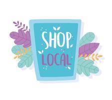 ondersteuning van lokale bedrijven, winkel kleine marktsituatie tijdens een crisis, pandemie vector