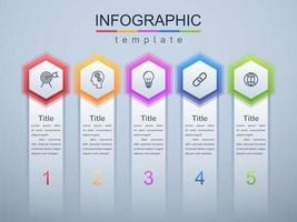 moderne infographic bedrijfs- en zakelijke sjabloon