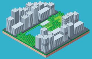 Central Park New York isometrische illustratie vector