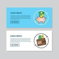 Cashback banner Vector
