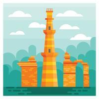 Qutub Minar Illustratie