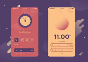 Mobiele app Gui Vector