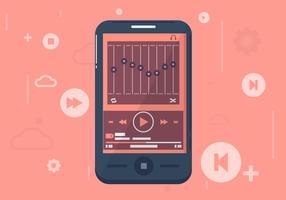 Mobiele app GUI achtergrondillustratie
