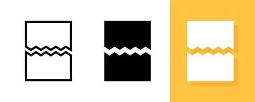 beschadigd bestand document icon set vector