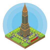 Isometrische stad van New York vector