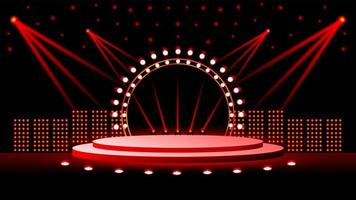 mooie podiumillustratie vol lichten vector