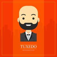 tux gentleman club vector