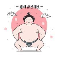 Sumo Wrestler vectorillustratie
