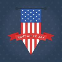 onafhankelijkheidsdag vlag banner wimpel vector ontwerp