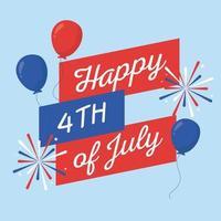 onafhankelijkheidsdag ballonnen vector ontwerp
