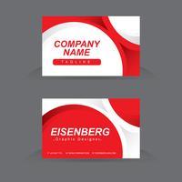 Modern grafisch ontwerp visitekaartje