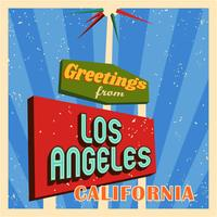 Vintage Los Angeles typografie vector