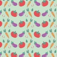 gezonde voeding voeding dieet biologische tomaat aubergine wortel en champignons achtergrond