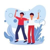 mannen avatars vrienden vector ontwerp