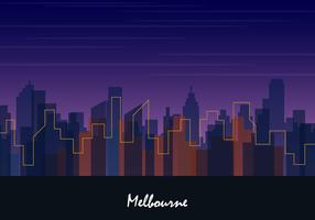 skyline van melbourne stad vector