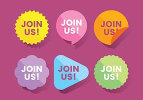 Sluit je aan bij ons Website Sticker Vector