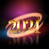 gelukkig nieuwjaar achtergrond met gouden cijfers en sparkles vector