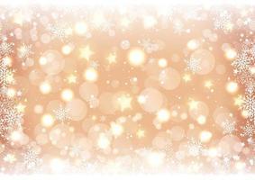 gouden Kerstmissneeuwvlokachtergrond vector