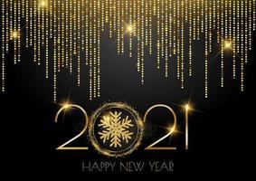 glittery gold sparkle gelukkig nieuwjaar achtergrond vector