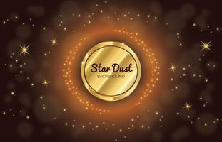 Golden Star Dust Achtergrond vector