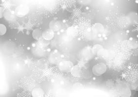 zilveren Kerstmissneeuwvlokachtergrond vector