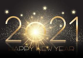 gouden nieuwe jaarachtergrond met fonkelingseffect vector