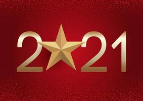 rode en gouden gelukkig Nieuwjaar achtergrond vector