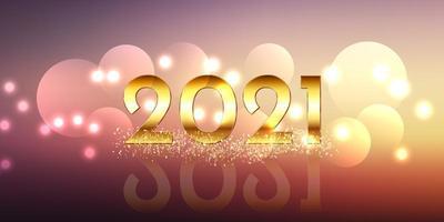 gelukkig nieuwjaar bannerontwerp met glitter gouden ontwerp vector