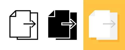 kopieer of dupliceer icon set vector