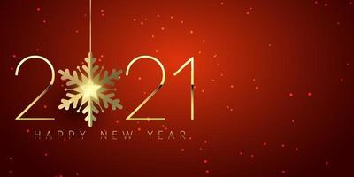 elegant gelukkig nieuwjaar bannerontwerp