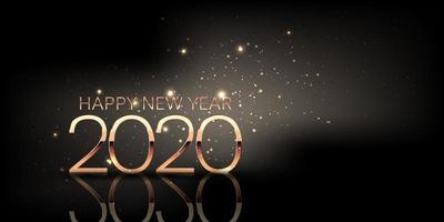 gelukkig nieuwjaar achtergrond met fonkelingsontwerp vector