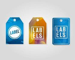 commerciële tags hangen met levendige kleuren
