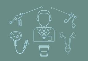 Urologie overzicht pictogram Vector