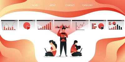technologie zorgt ervoor dat werknemers en werknemers gemakkelijker en efficiënter werken, en kan overal werken, vector illustratie concept, kan worden gebruikt voor presentatie, web, banner ui ux, bestemmingspagina