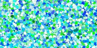 lichtblauwe vectorachtergrond met veelhoekige stijl.