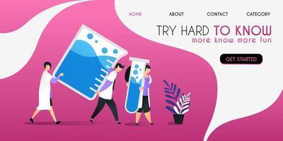 wetenschappers die hard werken tillen wat vloeistof op in het concept van de vat vectorillustratie, kunnen worden gebruikt voor presentatie, web, banner ui ux, bestemmingspagina vector