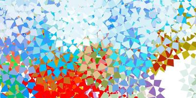 lichtblauwe vectorachtergrond met veelhoekige stijl. vector