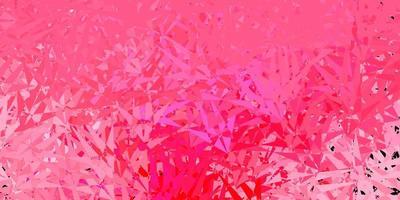 lichtroze vector sjabloon met driehoekige vormen.