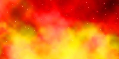lichtoranje vectorlay-out met heldere sterren.