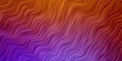 lichtroze, gele vectorachtergrond met gebogen lijnen. vector