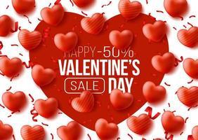 promo webbanner voor Valentijnsdag verkoop vector