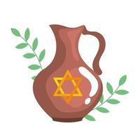 theepot met joodse gouden ster chanoeka